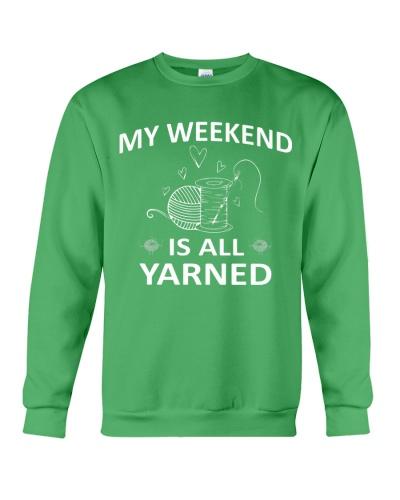 My weekend is all yarned