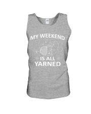My weekend is all yarned Unisex Tank front