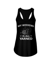 My weekend is all yarned Ladies Flowy Tank thumbnail