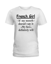 French Girl Ladies T-Shirt thumbnail
