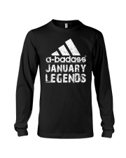 Legends are born in January Long Sleeve Tee tile