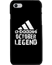 Legends are born in October Phone Case tile