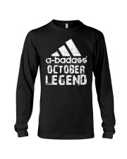 Legends are born in October Long Sleeve Tee tile