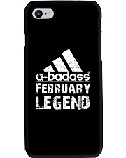 Legends are born in February Phone Case tile