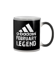 Legends are born in February Color Changing Mug tile