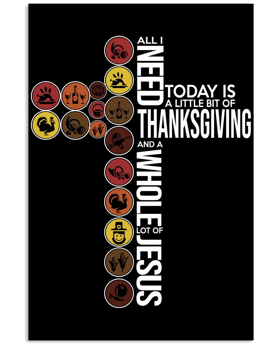Today Is Thanksgiving 11x17 Poster