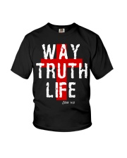 Way Truth Life Christian Cross Youth T-Shirt tile