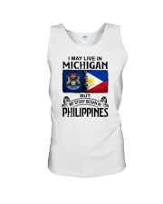 LIVE IN MICHIGAN BEGAN IN PHILIPPINES Unisex Tank thumbnail