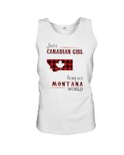 CANADIAN GIRL LIVING IN MONTANA WORLD Unisex Tank thumbnail