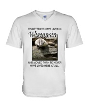 IT'S BETTER TO HAVE LIVED IN WISCONSIN V-Neck T-Shirt thumbnail