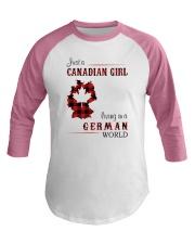 CANADIAN GIRL LIVING IN GERMAN WORLD Baseball Tee thumbnail