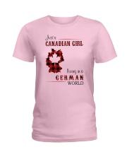 CANADIAN GIRL LIVING IN GERMAN WORLD Ladies T-Shirt thumbnail