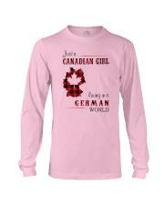 CANADIAN GIRL LIVING IN GERMAN WORLD Long Sleeve Tee thumbnail