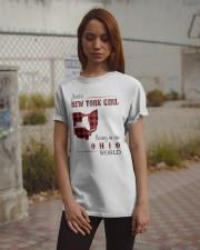 NEW YORK GIRL LIVING IN OHIO WORLD  Classic T-Shirt apparel-classic-tshirt-lifestyle-18