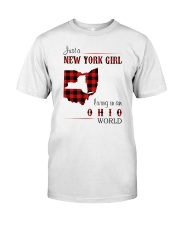NEW YORK GIRL LIVING IN OHIO WORLD  Classic T-Shirt front
