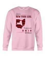 NEW YORK GIRL LIVING IN OHIO WORLD  Crewneck Sweatshirt thumbnail