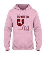 NEW YORK GIRL LIVING IN OHIO WORLD  Hooded Sweatshirt thumbnail