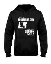 JUST A LOUISIANA GUY LIVING IN OREGON WORLD Hooded Sweatshirt thumbnail