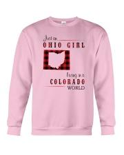 OHIO GIRL LIVING IN COLORADO WORLD Crewneck Sweatshirt thumbnail