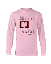 OHIO GIRL LIVING IN COLORADO WORLD Long Sleeve Tee thumbnail