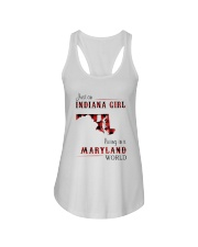 INDIANA GIRL LIVING IN MARYLAND WORLD Ladies Flowy Tank thumbnail