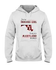 INDIANA GIRL LIVING IN MARYLAND WORLD Hooded Sweatshirt thumbnail