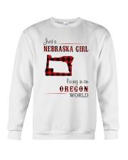 NEBRASKA GIRL LIVING IN ORGEON WORLD Crewneck Sweatshirt thumbnail