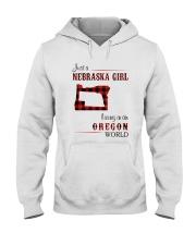 NEBRASKA GIRL LIVING IN ORGEON WORLD Hooded Sweatshirt thumbnail
