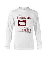 NEBRASKA GIRL LIVING IN ORGEON WORLD Long Sleeve Tee thumbnail