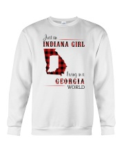 INDIANAN GIRL LIVING IN GEORGIA WORLD Crewneck Sweatshirt thumbnail