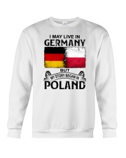 LIVE IN GERMANY BEGAN IN POLAND Crewneck Sweatshirt thumbnail