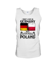 LIVE IN GERMANY BEGAN IN POLAND Unisex Tank thumbnail