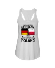 LIVE IN GERMANY BEGAN IN POLAND Ladies Flowy Tank thumbnail