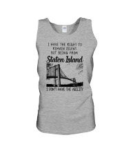 FROM STATEN ISLAND I DON'T HAVE THE ABILITY Unisex Tank thumbnail