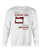KANSAS GIRL LIVING IN OREGON WORLD Crewneck Sweatshirt thumbnail