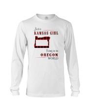 KANSAS GIRL LIVING IN OREGON WORLD Long Sleeve Tee thumbnail