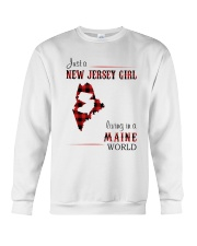 JERSEY GIRL LIVING IN MAINE WORLD Crewneck Sweatshirt thumbnail