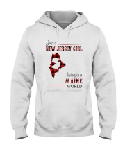 JERSEY GIRL LIVING IN MAINE WORLD Hooded Sweatshirt thumbnail
