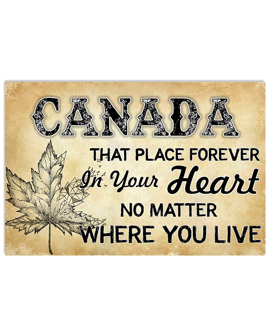 CANADA THAT PLACE FOREVER IN YOUR HEART 17x11 Poster
