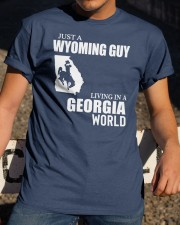 JUST A WYOMING GUY LIVING IN GEORGIA WORLD Classic T-Shirt apparel-classic-tshirt-lifestyle-28