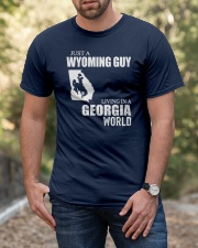 JUST A WYOMING GUY LIVING IN GEORGIA WORLD Classic T-Shirt apparel-classic-tshirt-lifestyle-front-53