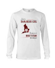 ROMANIAN GIRL LIVING IN BRITISH WORLD Long Sleeve Tee thumbnail