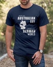 JUST AN AUSTRALIAN GUY LIVING IN GERMAN WORLD Classic T-Shirt apparel-classic-tshirt-lifestyle-front-53