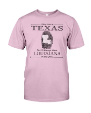 TEXAS BUT LOUISIANA IN MY DNA Classic T-Shirt thumbnail