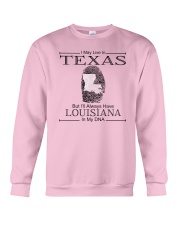TEXAS BUT LOUISIANA IN MY DNA Crewneck Sweatshirt thumbnail