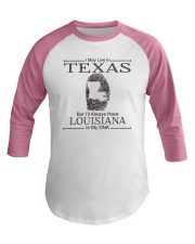 TEXAS BUT LOUISIANA IN MY DNA Baseball Tee thumbnail
