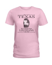 TEXAS BUT LOUISIANA IN MY DNA Ladies T-Shirt front