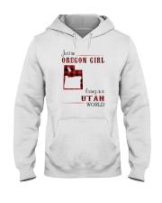 OREGON GIRL LIVING IN UTAH WORLD Hooded Sweatshirt thumbnail