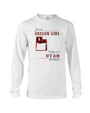 OREGON GIRL LIVING IN UTAH WORLD Long Sleeve Tee thumbnail