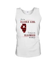 ALASKA GIRL LIVING IN ILLINOIS WORLD Unisex Tank thumbnail